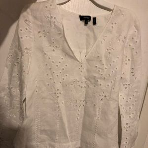 White blouse by theory